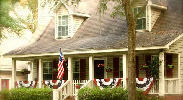 easy ways to add curb appeal - americana decor ideas for your