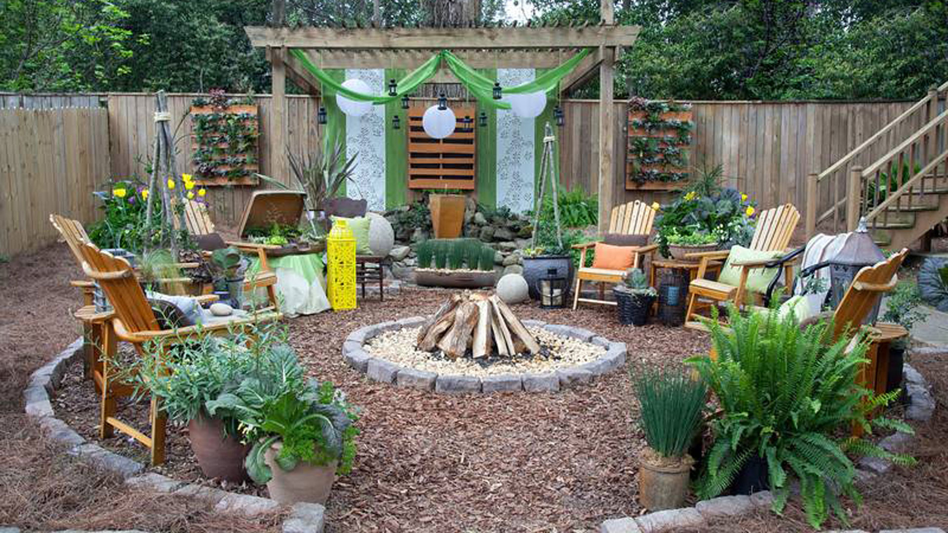 Backyard oasis beautiful backyard ideas for Creating a landscape