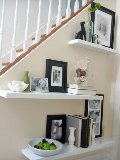 Shelf Decorating Ideas ideas for floating shelves - floating shelf styles