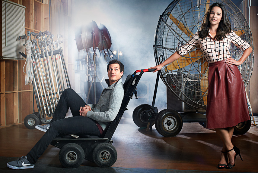Andy Samberg And Melissa Fumero Fashion Brooklyn Nine