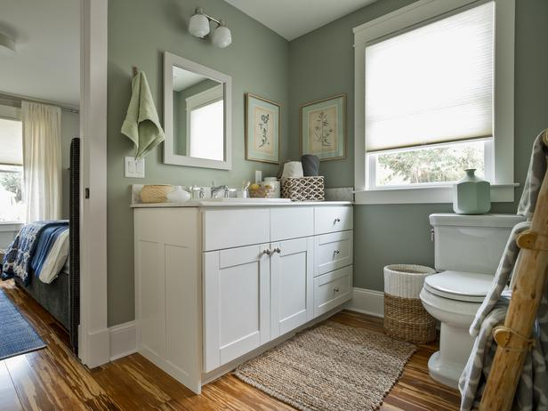 Fit Crafty Stylish And Happy Guest Bathroom Makeover: DIY Network Blog Cabin Home Makeover
