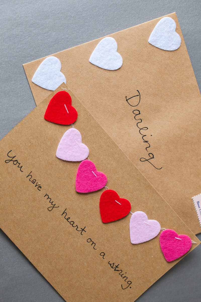 14 DIY Valentines Day Cards Homemade Ideas for Valentines Day Cards – Homemade Valentine Cards Ideas