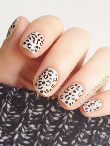 Animal print nail art manicure ideas with leopard and animal print nude leopard prinsesfo Choice Image