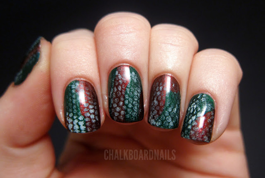 Multi-Colored Snakeskin. As far as nail art ... - Animal Print Nail Art - Manicure Ideas With Leopard And Animal Print