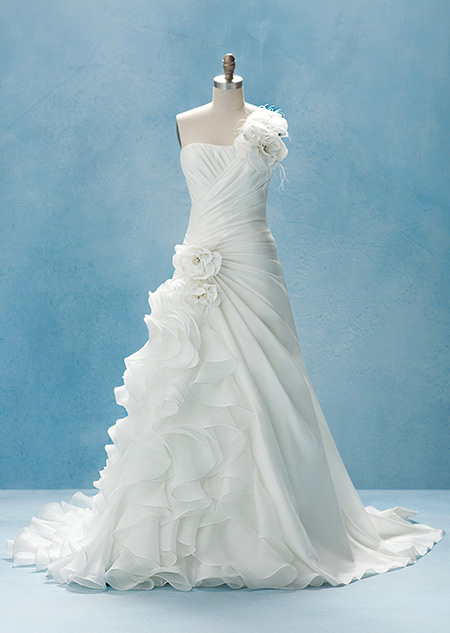 Disney princess wedding gowns wedding dresses inspired for Princess mermaid wedding dresses