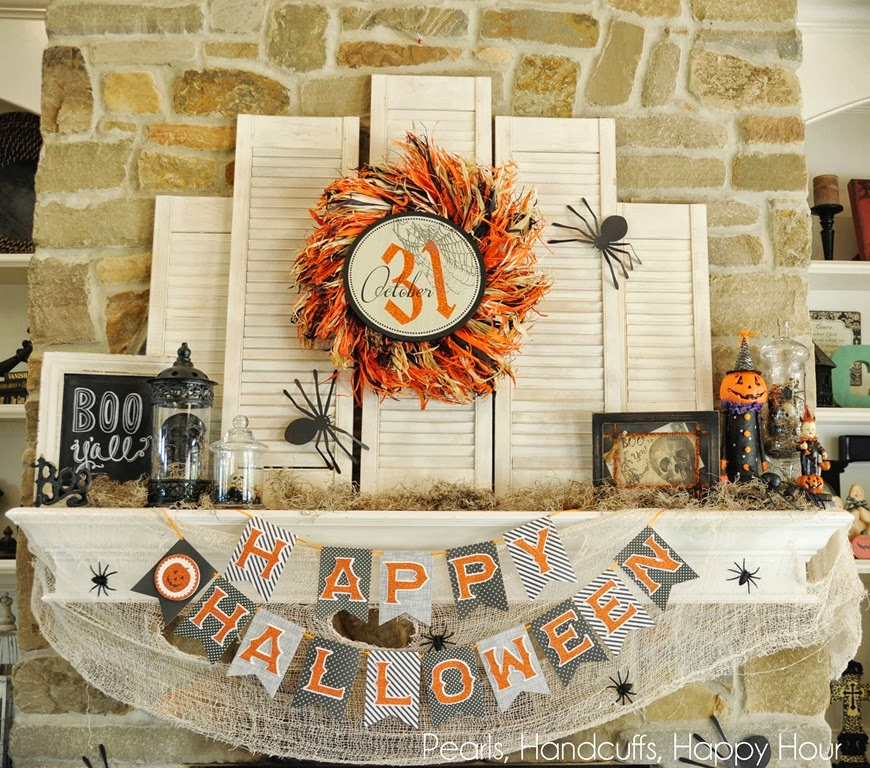 country chic - Halloween Mantel Ideas