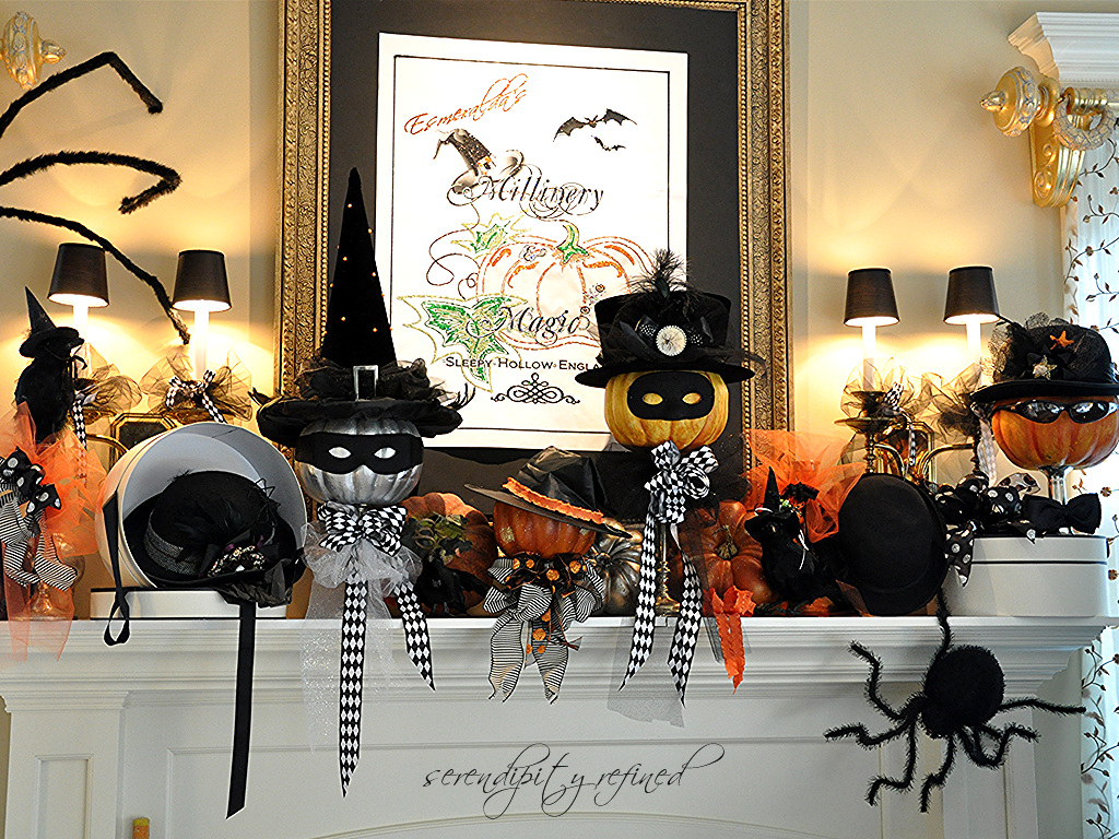 diy halloween mantel ideas - Halloween Mantle