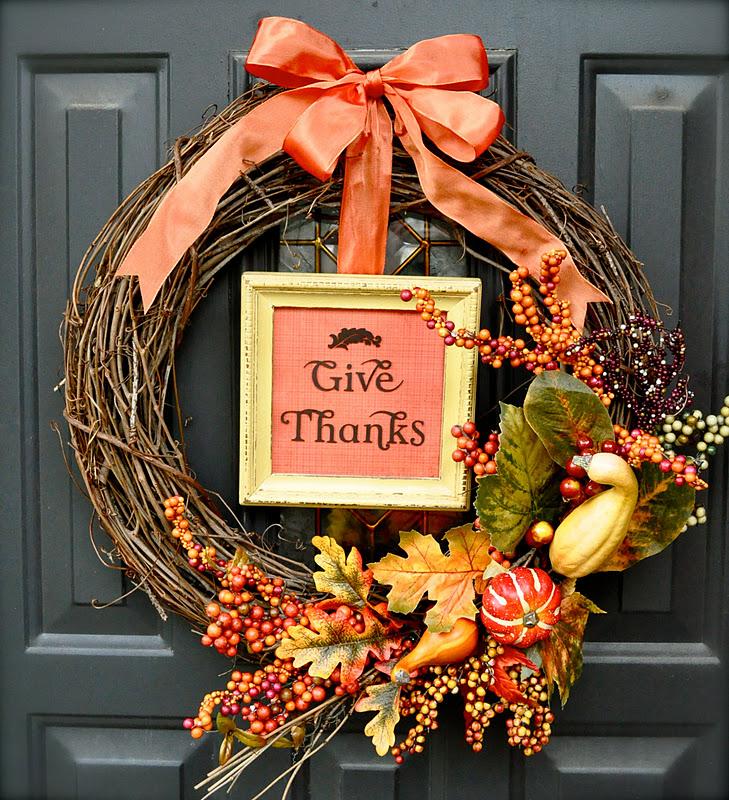 DIY Thanksgiving Wreaths Easy Thanksgiving Door Decorations - 9 diy thanksgiving front door decor ideas