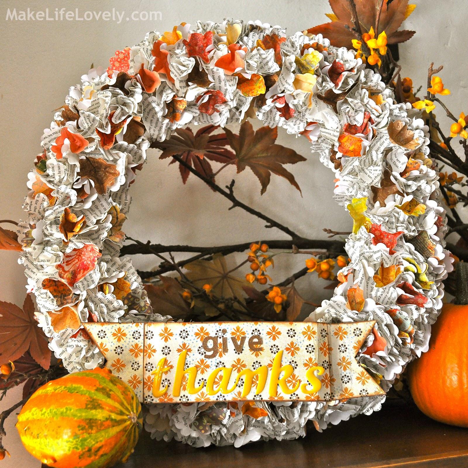 Diy thanksgiving paper decor - Diy Thanksgiving Paper Decor