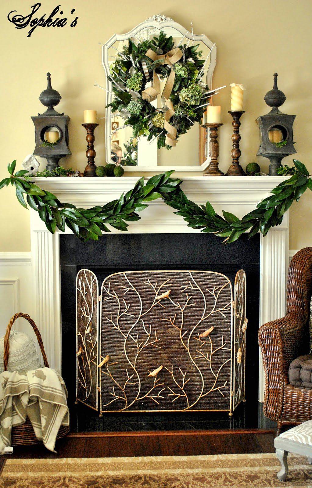 Decorating A Mantel For Christmas christmas mantel ideas - how to style a holiday mantel