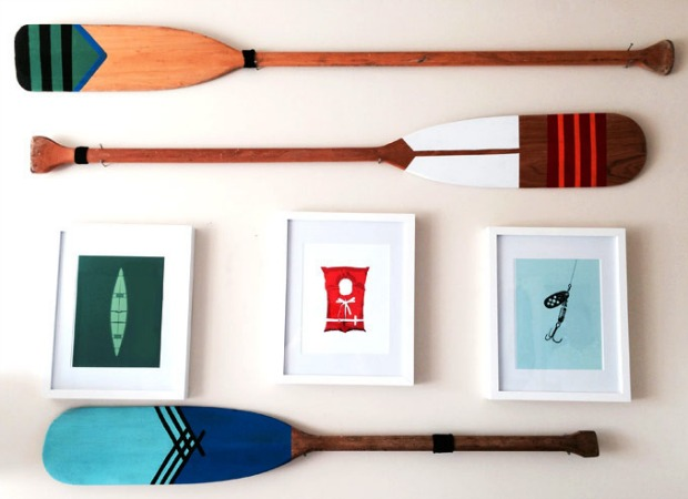 Diy Painted Oars Wall Art Ideas And Projects