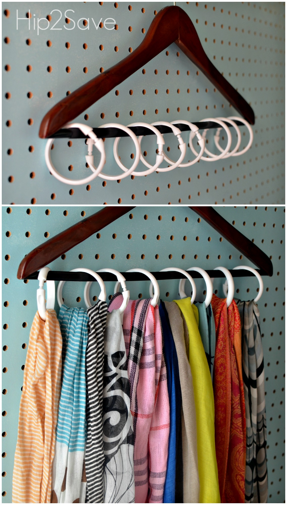 Shower Curtain Ring Organizing Ideas - New Uses for Shower Curtain ...
