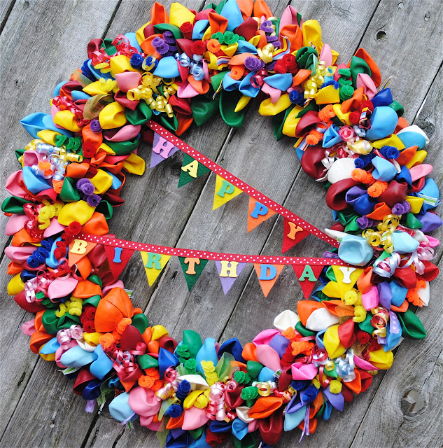 Fit Crafty Stylish And Happy Guest Bathroom Makeover: DIY Birthday Party Wreaths