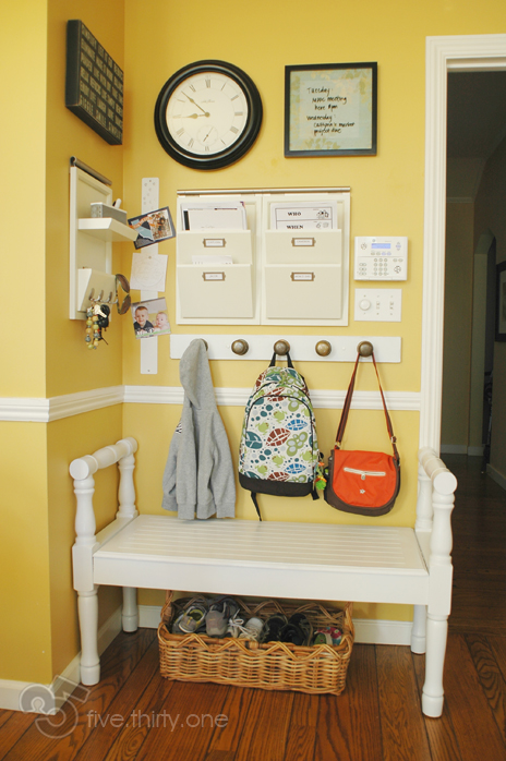 Pair It With A Mini Mudroom