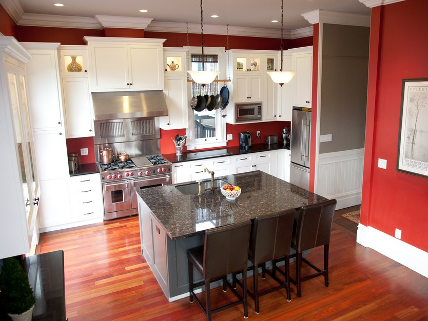 10 kitchen color ideas we love colorful kitchens for Good housekeeping kitchen designs