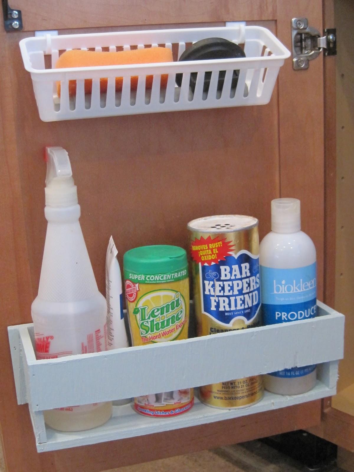 under the sink organization - bathroom and kitchen organizing tips