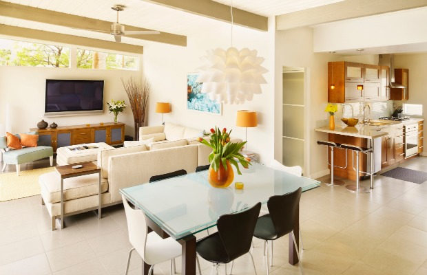open floor plan layout ideas - great room decorating tips