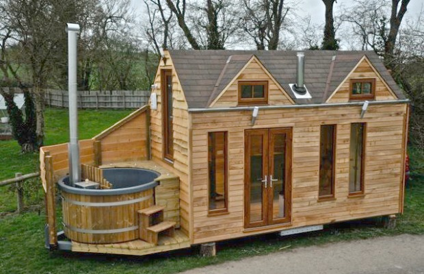 tiny house with hot tub unique minimalist homes - Tiny House Kits