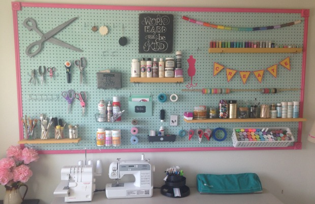 Diy small bathroom storage - Diy Pegboard Project How To Organize Craft Supplies