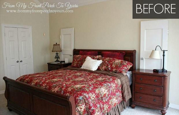 Light Blue Bedroom Makeover - Budget Bedroom Before and After