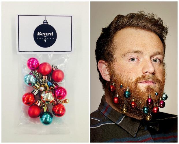 Christmas Beard Ornaments - Beard Baubles for Charity