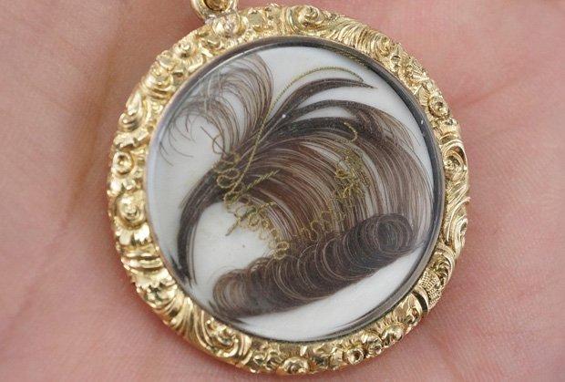 human hair jewelry where to buy antique mourning jewelry