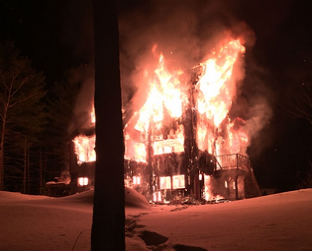 home trapped by snow burns down winter fire safety. Black Bedroom Furniture Sets. Home Design Ideas