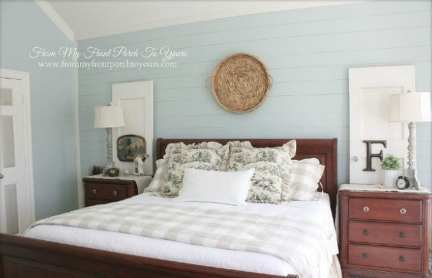 A Drab Bedroom Gets A Country Chic Facelift