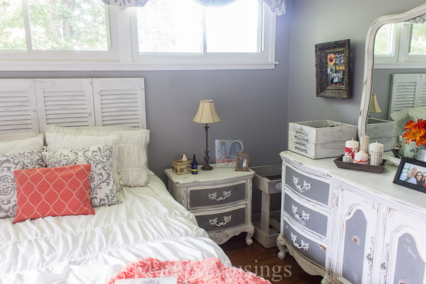 coral bedroom ideas. A Blah Beige Bedroom Gets a Feminine Facelift Coral and Gray Makeover  Before After