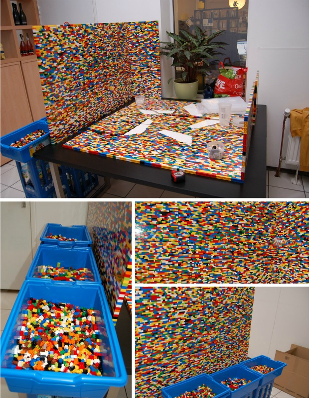 This Bright LEGO Wall Is Seriously Impressive