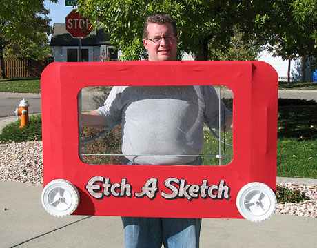 etch a sketch homemade halloween costume - Best And Easiest Halloween Costumes