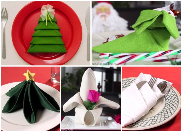 Christmas Napkin Folding Www Imgkid Com The Image Kid