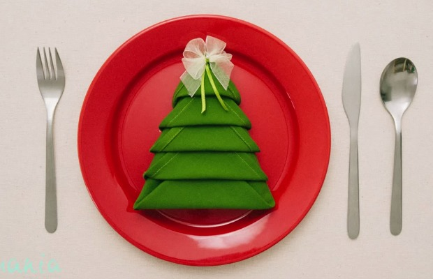 Christmas Napkin Folding Ideas Holiday Table Setting