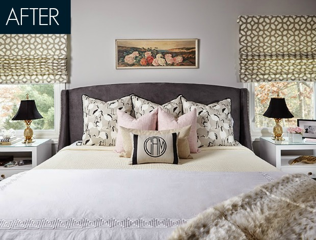 glam bedroom. Ashley Avila Abby M  Interiors Glam Bedroom Makeover Stylish Before and After