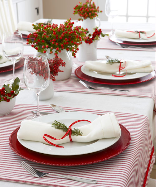 Christmas Table Settings 35 diy christmas table decorations and settings - centerpieces