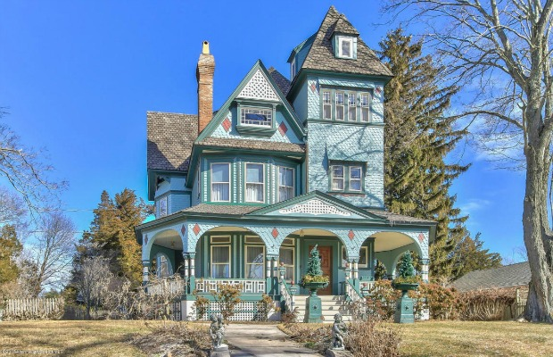Modern Victorian Home painted lady victorian home - historic homes for sale