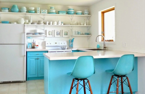 dans le lakehouse - Open Shelves Kitchen Design Ideas