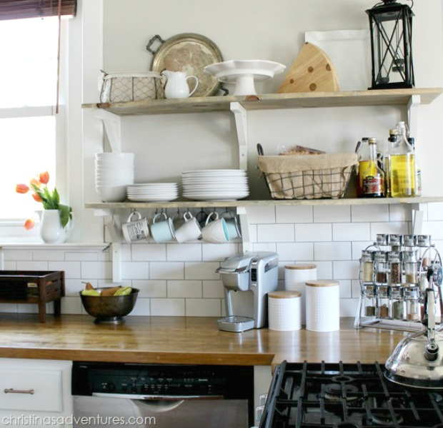 Elegant 7 Reasons To Try Kitchen Open Shelving