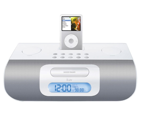 stereo audio alarm clock for your ipod i177 iluv 90