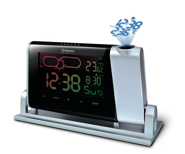 alarm clocks time projection weather indicator. Black Bedroom Furniture Sets. Home Design Ideas