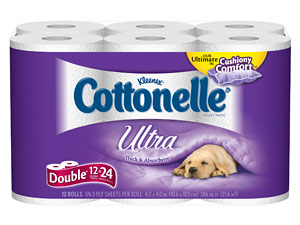 Superior Clean - Cottonelle Bath Tissue is soft, strong and effective to give you a Superior Clean 3X Stronger - Per toilet paper sheet versus the leading national bath tissue value brand $