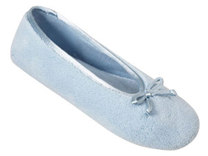 Isotoner Microterry Ballet Womens Slippers