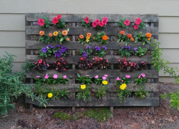 Garden pallet diy pallet project ideas for How to make a flower box out of pallets
