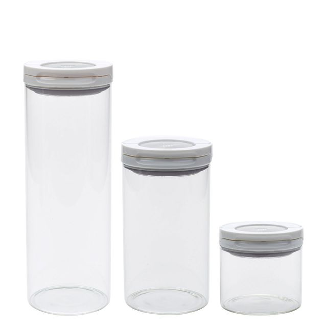 Beautiful Oxo Good Grips FlipLock Glass Canister