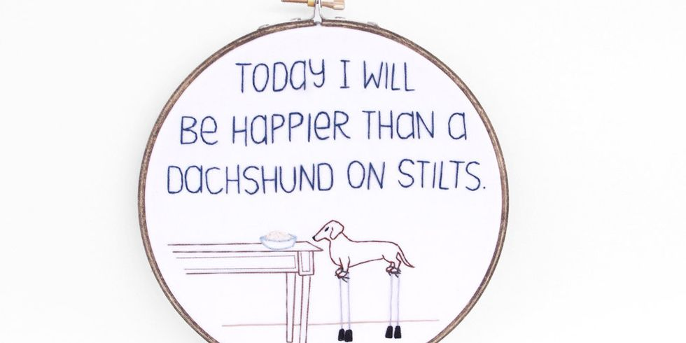 Funny embroidery art lessons from handmade