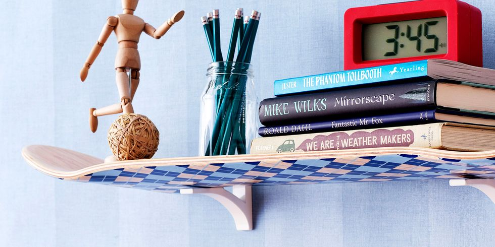 skateboard shelf - Home Decor Craft Ideas