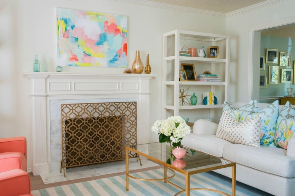 Colorful Living Room Makeover - Caitlin Wilson Interior Design