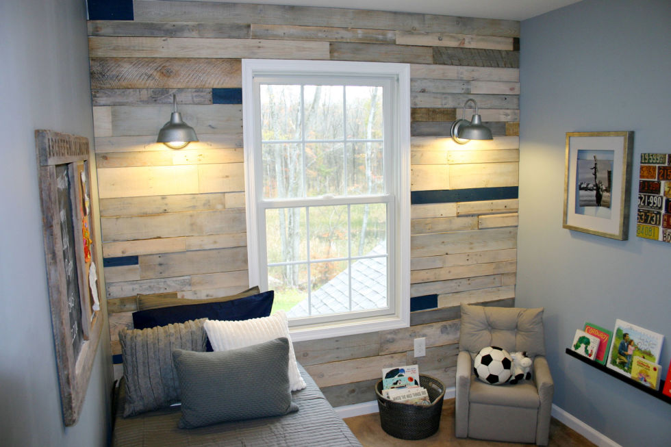 How to make a wood panel wall roselawnlutheran - Artistic wood clad design for warm essence in your house ...