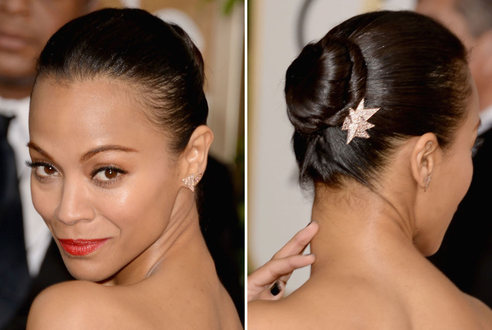 Black Tie Tight Updo With A Jewel