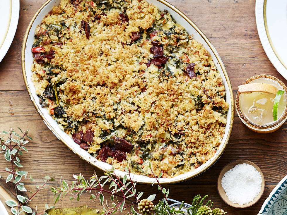 This is basically just fancy spinach-artichoke dip and it definitely belongs on your table. 